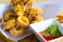 calamari που τηγανίζεται Στοκ εικόνα με δικαίωμα ελεύθερης χρήσης