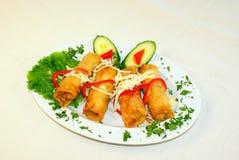 calamari που τηγανίζεται Στοκ Φωτογραφίες