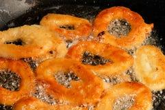Calamari τηγανίσματος στοκ φωτογραφία με δικαίωμα ελεύθερης χρήσης