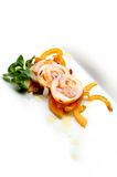 Calamari. Filled with boiled vegetable Stock Images