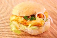Calamari Burger Royalty Free Stock Photos