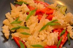 Calamari with celery Stock Image