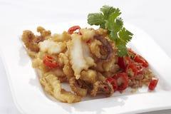 Calamari de style chinois Photographie stock