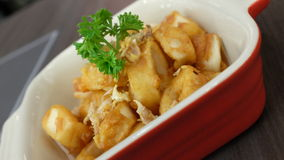 Calamari. Deep fried calamari with garlic Stock Photography