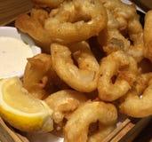 Calamari. Deep fried calamari squid rings Royalty Free Stock Photo