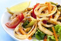 Calamari doce do pimentão Imagens de Stock