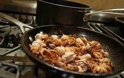 Calamari en Octopus Stock Fotografie