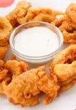 Calamari frit. photos libres de droits