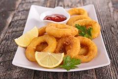 Calamari frit Photo libre de droits
