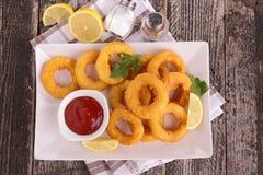 Calamari frit Photographie stock