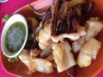 calamari frit par chips image stock