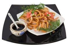 Calamari fritado Imagem de Stock Royalty Free