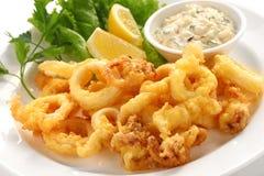 Calamari fritado foto de stock