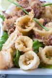 Calamari frito Fotos de archivo libres de regalías