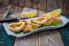 Calamari frito Fotografía de archivo