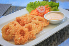 Calamari Fritti royalty free stock photography