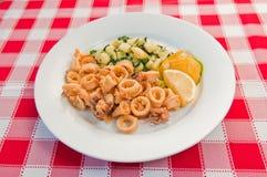 Calamari fritto Fotografie Stock Libere da Diritti