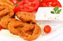 Calamari meal Royalty Free Stock Photography