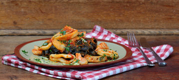 Calamari pasta Royalty Free Stock Photography