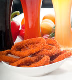 Calamari rings royalty free stock images