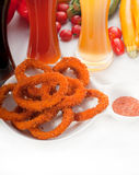 Calamari rings Stock Photos