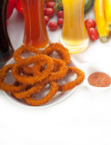 Calamari rings stock image