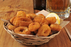 Calamari rings Stock Photos