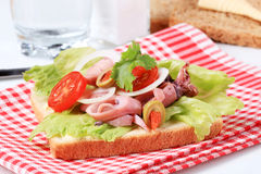 Calamari Sandwich Stock Photo