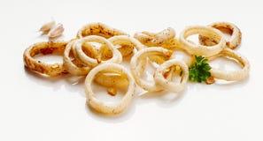 Calamari sautéed in garlic Stock Photography