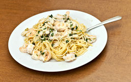 Calamari Shrimp Pasta Dish Stock Photography