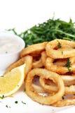 calamari smażący obraz stock