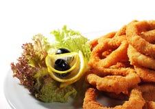 calamari smażący owoce morza Zdjęcie Royalty Free