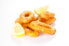 calamari smażący smakowity Obraz Royalty Free