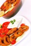 Calamari table Royalty Free Stock Photography
