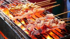 Calamaro arrostito delizioso fotografie stock