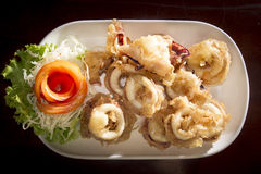 Calamaro croccante Fotografia Stock Libera da Diritti