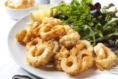 Calamaro del pepe e del sale Fotografie Stock Libere da Diritti