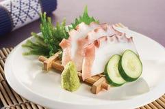 Calamaro del sashimi Immagini Stock