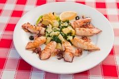 Calamaro farcito Fotografie Stock