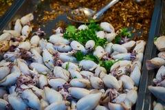 Calamaro farcito nel mercato Bangkok Tailandia Immagine Stock Libera da Diritti