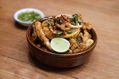 Calamaro fritto Fotografia Stock Libera da Diritti