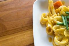 calamaro fritto con l'uovo salato Fotografia Stock
