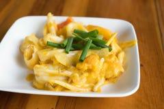 calamaro fritto con l'uovo salato Fotografie Stock Libere da Diritti