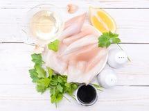 Calamaro grezzo Fotografie Stock Libere da Diritti