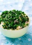 Calamary and mayonnaise salad. Stock Photography