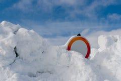 Calamidad de la nieve en las montañas Imagen de archivo