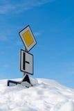 Calamidad de la nieve en las montañas Fotografía de archivo