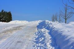 Calamità della neve Fotografia Stock Libera da Diritti