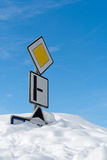 Calamité de neige dans les montagnes Photographie stock
