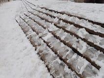 Calamité de neige dans une rue de ville image libre de droits
